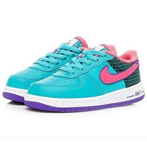 NWT NIKE FORCE 1 NOW (TD) in box Cabana/Hyper Pink